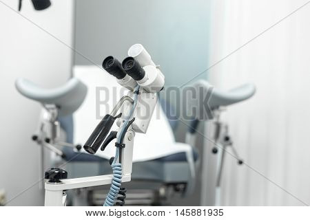 chair gynecologist's office specialized equipment medical equipment