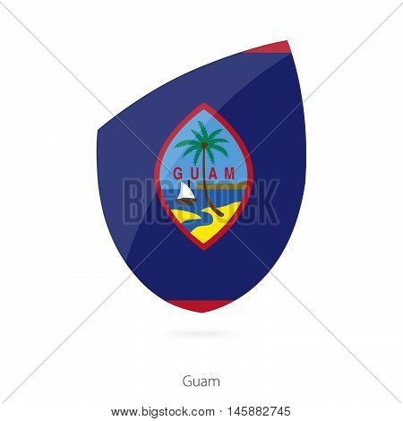 Flag of Guam in the style of Rugby icon. Vector Illustration.
