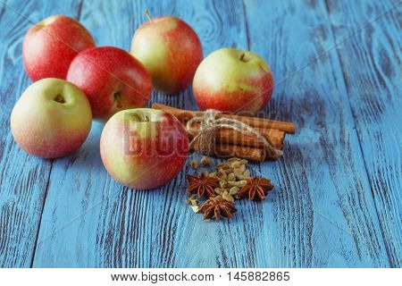 Apples And Spices - Juicy Fruits With Cinnamon And Star Anise