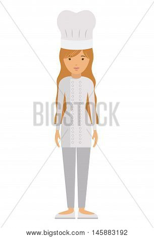chef woman and cartoon icon. profession worker and occupation theme. Isolated design. Vector illustration