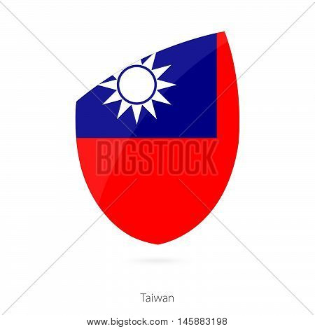 Flag of Taiwan in the style of Rugby icon. Vector Illustration.