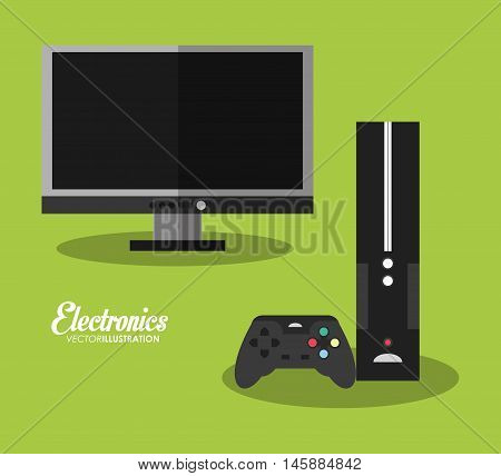 tv and videogame icon. electronic appliances and supplies for your home theme.Colorful design. Vector illustration