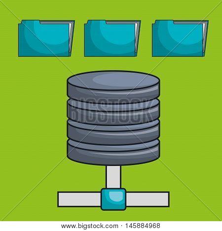 data base file folder vector illustration eps10