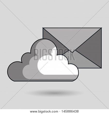 cloud data base center vector illustration eps10