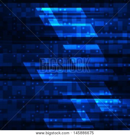 Hi-tech abstract technology background, Vector illustration EPS10
