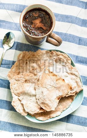Indian Bread And Coffee