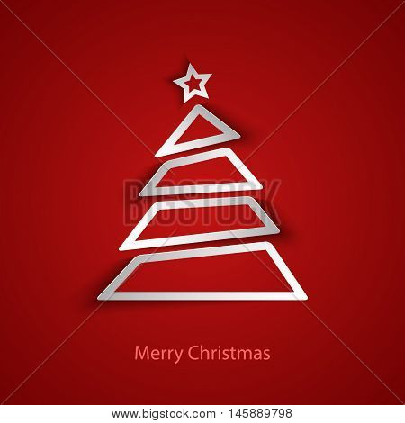 Christmas card with abstract tree template vector eps 10