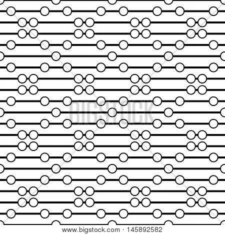 Circles on the thread. Simple bead. Seamless pattern