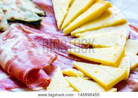 Soparnik With Prosciutto And Cheese.