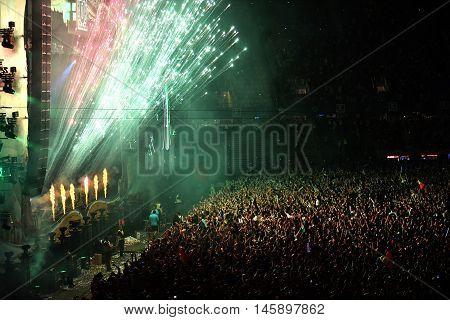 Fireworks At A Live Concert