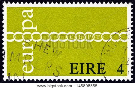IRELAND - CIRCA 1971: A stamp printed in Ireland from the