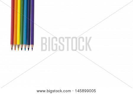 pencil background inline rainbow color down seven