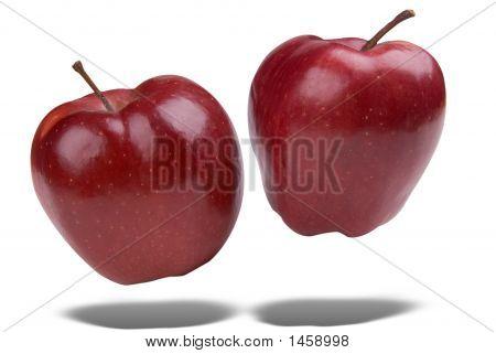 Manzanas rojas flotante