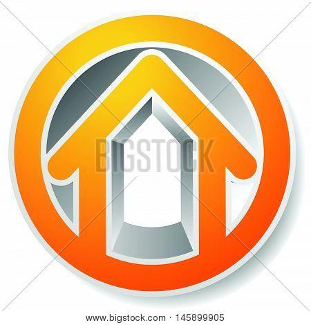 Contour House / Building Symbol, Icon Or Logo