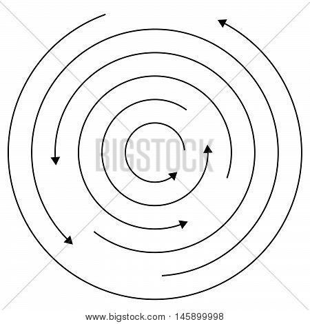 Circular Arrows - Random Concentric Circles With Arrows For Twist, Rotation, Centrifuge, Cycle Conce