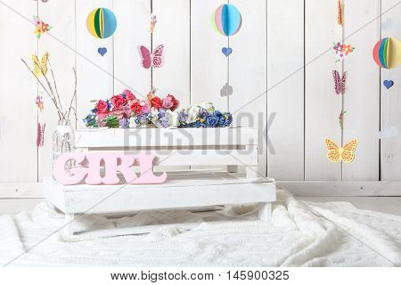 baby girl child photography studio background setup
