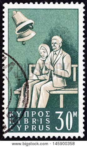 CYPRUS - CIRCA 1965: A stamp printed in Cyprus from the