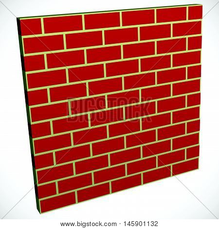 Wall In Perspective. Brickwall For Construction, Building Or Obstacle Related Themes