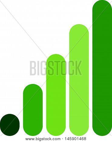 Bar Chart / Bar Graph Symbol. Rounded Rectangle Chart
