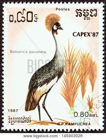 KAMPUCHEA - CIRCA 1987: A stamp printed in Kampuchea from the