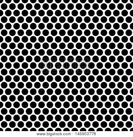Seamlessly Repeatable Pattern With Dots, Circles. Monochrome Abstract Illustration In Speckled, Half