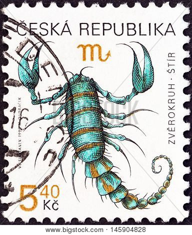 CZECH REPUBLIC - CIRCA 1998: A stamp printed in Czech Republic from the