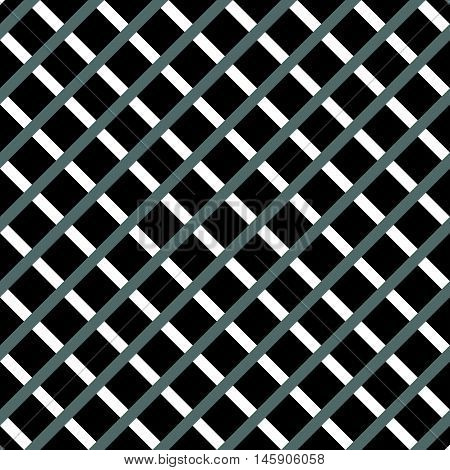 Cellular, Grid Seamless Black And White Pattern