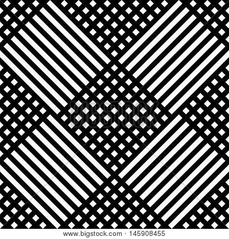 Grid, Mesh Irregular Repeatable Pattern, Black White Texture