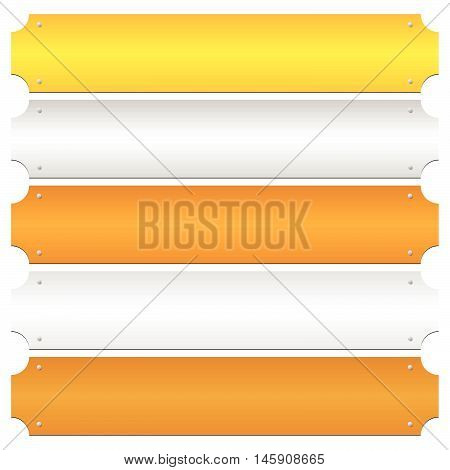 Gold, Silver, Bronze, Platinum, Copper Metal Bars, Banner Backgrounds