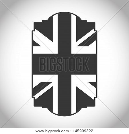 Silhouette of flag icon. London england landmark and british theme. Isolated design. Vector illustration