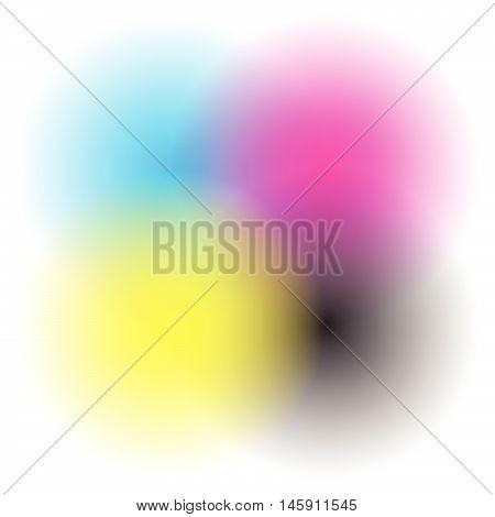 Transparent Cmyk Circles Blended - Cmyk, Printing Color Space
