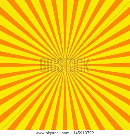 Bright Starburst (sunburst) Background With Regular Radiating Lines, Stripes