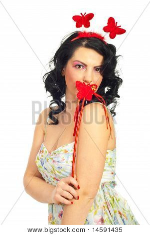 Spring Woman With Butterfly Wand