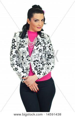 Fashion Model  Woman Posing