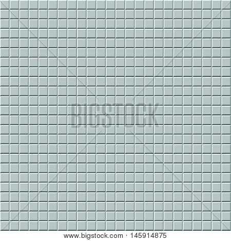 Mosaic Of Beveled Tiles. Basic Colorless Tileable Pattern Background.
