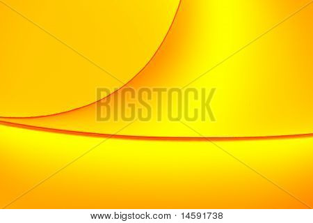Yellow And Orange Color Tones Macro Background Picture Shapes Of Curved Sheets Of Paper