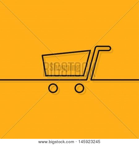 Shopping cart line design background 10 eps