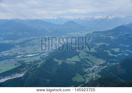 View from Untersberg Mountain in Salzburg, Austria