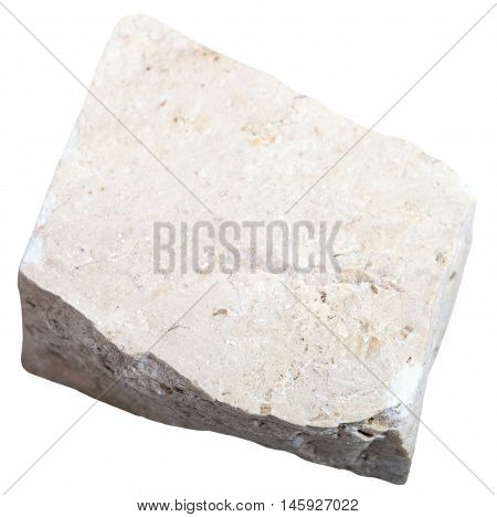Chemogenic Limestone Stone Isolated