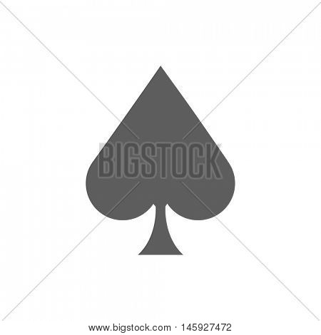 Ace of spades icon illustration on a white background