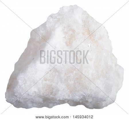 White Anhydrite Rock Isolated