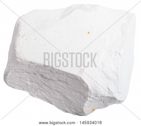 Chalk Stone Isolated On White Background