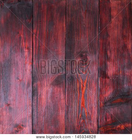 Old Redwood Panels With Cracks, Scratches, Swirls, Notch And Chips