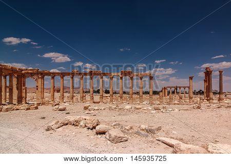 The ruins of ancient city Palmyra, Syria