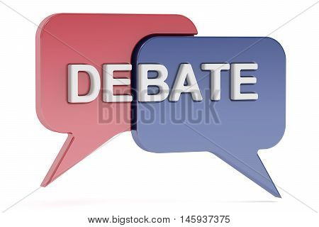 Debate concept 3D rendering isolated on white background