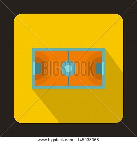 Handball playground icon in flat style with long shadow. Championship symbol vector illustration