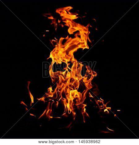 blaze yellow fire flame texture background hot