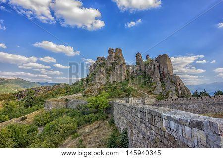 Belogradchik rocks.Stunning day view of the Belogradchik rocks in Bulgaria.