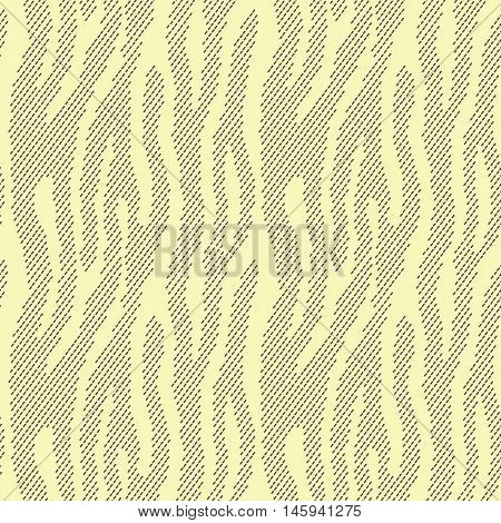 Abstract animal print. Seamless vector pattern with zebra/tiger stripes. Textile repeating animal fur background. Halftone stripes endless bachground.