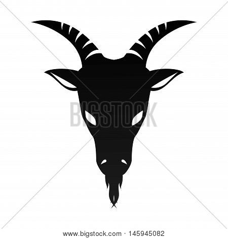 ram goat horn capricorn zodiac sign silhouette vector illustration